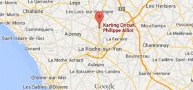 Plan d'accès au Circuit Philippe ALLIOT