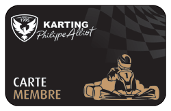Carte membre du Circuit de karting Philippe ALLIOT