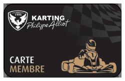 Carte membre du Circuit de karting Philippe ALLIOT